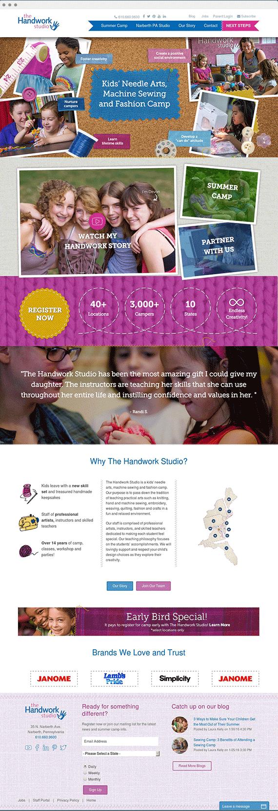 Portfolio-Handwork-Studio-Homepage
